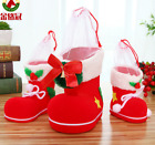 Christmas flocking boots decorative candy boots gifts Christmas decorations
