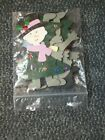 Lot of Christmas Tree People Die Cut Shapes