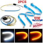 2x Led Strip Turn Signal Switchback Indicator Daytime Running Lights Sequential