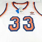 Adidas New York Knicks Patrick Ewing #33 White Orange Jersey Retro Throwback on eBay