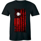 Polska USA Polish American Flag T-Shirt for Men image