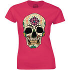Skull Flower Retro Floral Vintage Funny Halloween Gift Tee Idea Women's T-shirt
