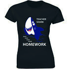 Teacher Shark Shirt Viral Music Song Teacherr Doo Doo Doo Womens T-shirt Tee