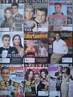 Entertainment Weekly lot (9) GEORGE CLOONEY 1996-2012 Batman & Robin/Photo Issue