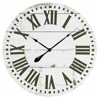 Aspire Home Accents Lisette French Country 30 in. Wall Clock with Shiplap Face