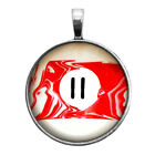 Number Eleven #11 Pool Ball Key Ring Necklace Cufflinks Tie Clip Ring Earrings $16.95 USD on eBay