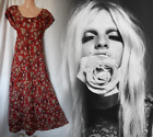 Anokhi Vintage Dress 60's 70's Boho Hippy Spell And Gypsy Style Maxi 12 40 US 8