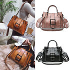 Women Vintage Handbag Tote Leather Shoulder Bags Boho Crossbody Purse Satchel image