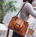 Women Shoulder Bags Vintage Handbag Tote Leather Boho Crossbody Purse Satchel image