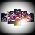 5 Pieces Basketball Star Michael Jordan HD Painting Canvas Wall Art Home Decor $33.29 USD on eBay