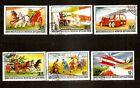 Mongolia 1977 History the Fire , horse , car , helicopte used stamp set