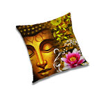 Buddha Floral Print Cushion Cover Square Polyester Throw Back Pillow Case 20x20*