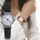Women Leather Strap Watches Casual Quartz Analog Round Dial Wrist Watch Gift F6 image