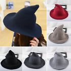 US STOCK Wool Halloween Witch Hat Modern Witch Hat Made From High Quality Sheep