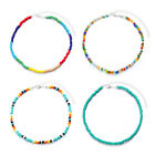 Bohemian Colorful Plastic Beaded Necklaces Chokers Charm Short Statement Collar