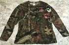 Mossy Oak Hunting Camo Top Women's Break Up Infinity Long Sleeve Camo Tee Shirt