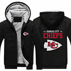Kansas City Chiefs Fans Hoodie Fleece zip up Coat winter Jacket warm Sweatshirt $37.99 USD on eBay