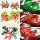 Christmas 10mm 25mm DIY Craft Grosgrain Ribbon Printed Santa Snowman Snowflake