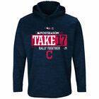 Cleveland Indians 2017 Postseason Authentic Collection Fleece Pullover Hoodie on Ebay