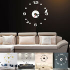 3D DIY Extra Large Numerals Luxury Mirror Wall Sticker Clock Home Decoration