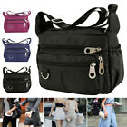Women Ladies Multi Pocket Messenger Handbag Cross Body Bags Fashion Shoulder Bag image