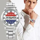 Men's Quartz Watches USA 45th President Trump Women Silver Stainless Steel Band image