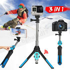 3 IN1 bluetooth SELFIE BASTONE STICK AUTOSCATTO TREPPIEDI PER CELLULARE GOPRO