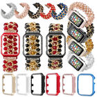 For Apple Watch Series 4 321 Jewelry Bead Jewelry Bracelet Strap Band Bling Case image