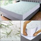 Bamboo Mattress Protector Waterproof Twin Full Queen King Size Quilted Bed Cover image