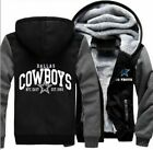 NEW Men's Dallas Cowboys Hoodie Zip up Jacket Coat Winter Warm Black and Gray $28.99 USD on eBay