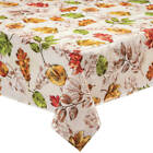Pressed Leaves Oilcloth Table Cloth by William Roberts