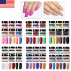 6 Boxes NICOLE DIARY 10g Glitter & Pure Dipping Powder Set Nail Tips Decoration