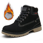 UK Mens Womens Warm Fur Lined Boots Winter Trainers Outdoor Hiking Shoes Size