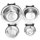 Stainless Steel Pet Dog Puppy Hanging Food Water Bowl Feeder For Crate Cage