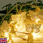 Fiber Battery Iron Bell Moon Led Fairy String Light Home Decor Christmas Lights