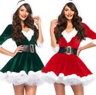 Women's New Christmas Adult Dress Santa Claus Plays V-neck Hooded Clothing