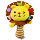 Boys Girls Newborn Soft Sound Animal Plush Handbells Squeeze Rattle Toy NP2