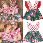 Christmas Toddler Kids Baby Girl Xmas Flared Party Santa Swing Dresses Clothes