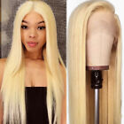 Bleach 613 Blonde Full Wig 100 Real Remy Indian Raw Human Hair Lace Front Wigs P for sale  Shipping to Canada