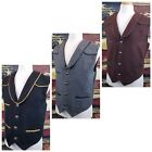 Wyoming Traders Mens Marshall Australian Wool Button Up Western Cowboy Vest