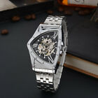 Luxury Mens Stainless Steel Triangle Skeleton Automatic Mechanical Wrist Watches image