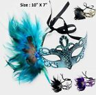 Peacock Feather Crystal Face Eye Cocktail Mask Halloween Party Wedding Club