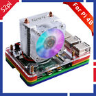 52Pi V2.0 RGB ICE Tower CPU Cooling Fan,5-Layer Acrylic Case for Raspberry Pi 4B