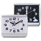 Travel Square Alarm Clock Quartz Table Desk Bedside Non-Ticking Analogue Snooze