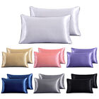 Soft 100% Mulberry Pure Silk Pillowcase Covers Queen Standard Hair Beauty image