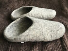 Felt Wool Warm Indoor Winter Shoes Slippers Handmade Leather base Natural Colour