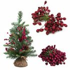 50x Artificial Red Holly Berries For Xmas Tree Bundle Garland Wreath Home Decor