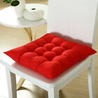 10 Colors Square Thicker Cushions Chair Seat Pad Dining Bed Room Garden G2UK