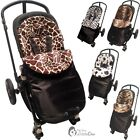 Animal Print Padded Pushchair Footmuff / Cosy Toes Compatible with Baby Weavers