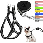 Nylon Step In Dog Harness and Leads Adjustable Reflective for Pet Puppy Yorkie